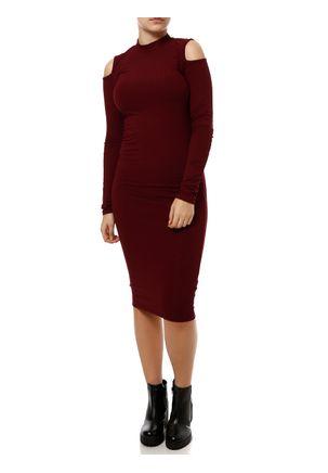 Vestido-Longo-Feminino-Lunender-Vinho