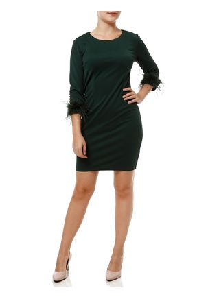 Vestido-Curto-Manga-3-4-Feminino-Verde