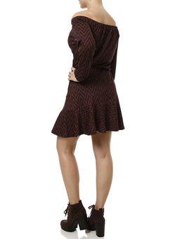 Vestido-Curta-Manga-3-4-Feminino-Vermelho