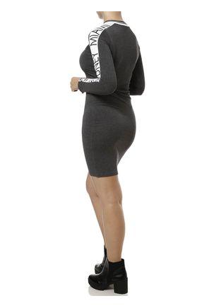 Vestido-Curto-Feminino-Cinza-Escuro