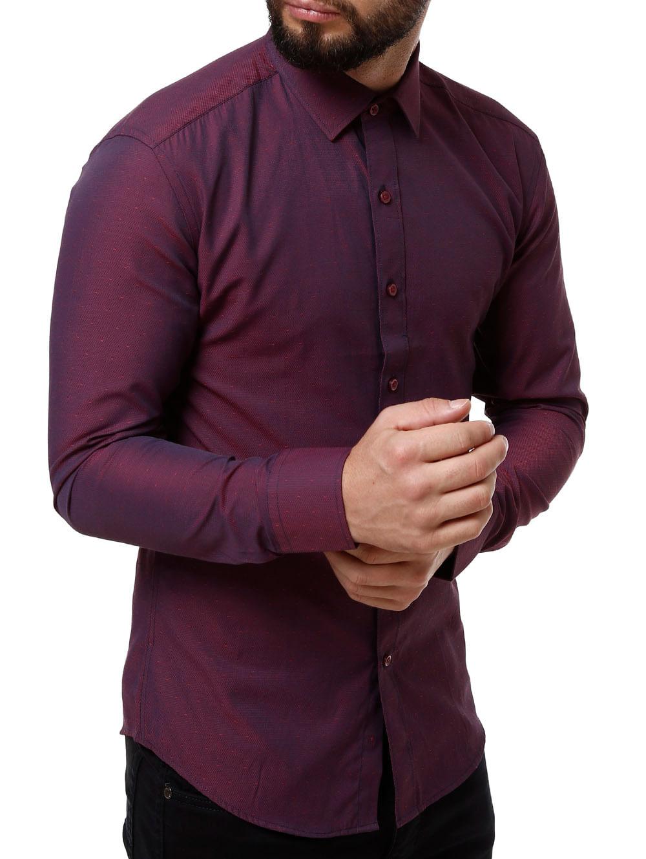 4405eeea51 Camisa Manga Longa Masculina Vinho - Lojas Pompeia