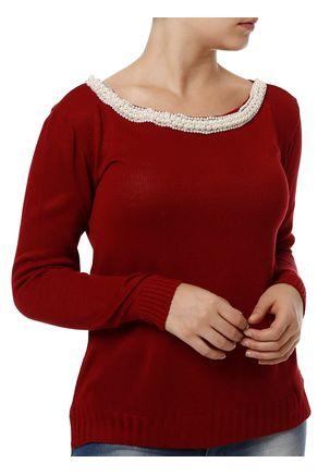 Blusa-de-Tricot-Feminina-Vermelho