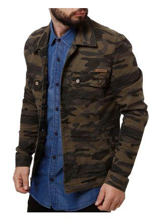 Jaqueta-Jeans-Masculina-Bivik-Verde-Militar