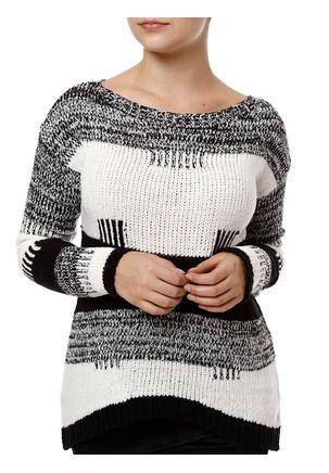 Blusa-de-Tricot-Feminina-Autentique-Preto-branco