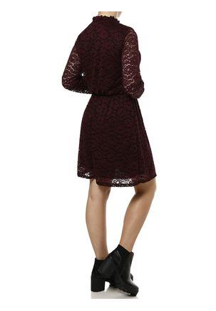 Vestido-Medio-Feminino-Autentique-Bordo-preto