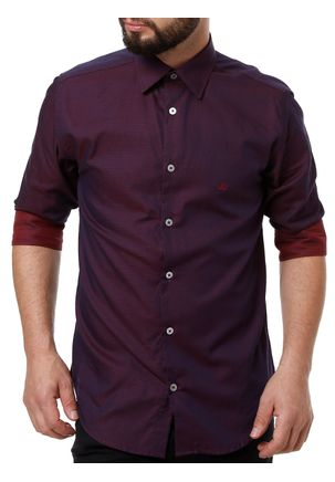 Camisa-Manga-3-4-Masculina-Vinho