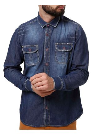 Camisa-Manga-Longa-Masculina-Eletron-Azul