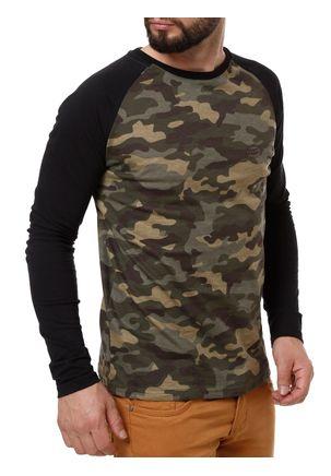 Camiseta-Manga-Longa-Masculina-Camuflada-Verde
