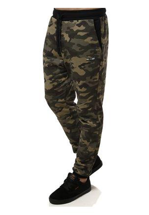 Calca-de-Tecido-Masculina-Camuflada-Verde