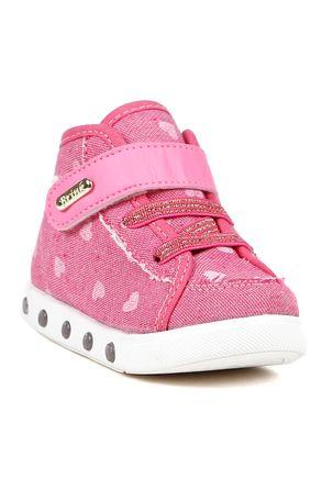 Tenis-Cano-Alto-Infantil-Para-Bebe-Menina---Rosa-Pink-21