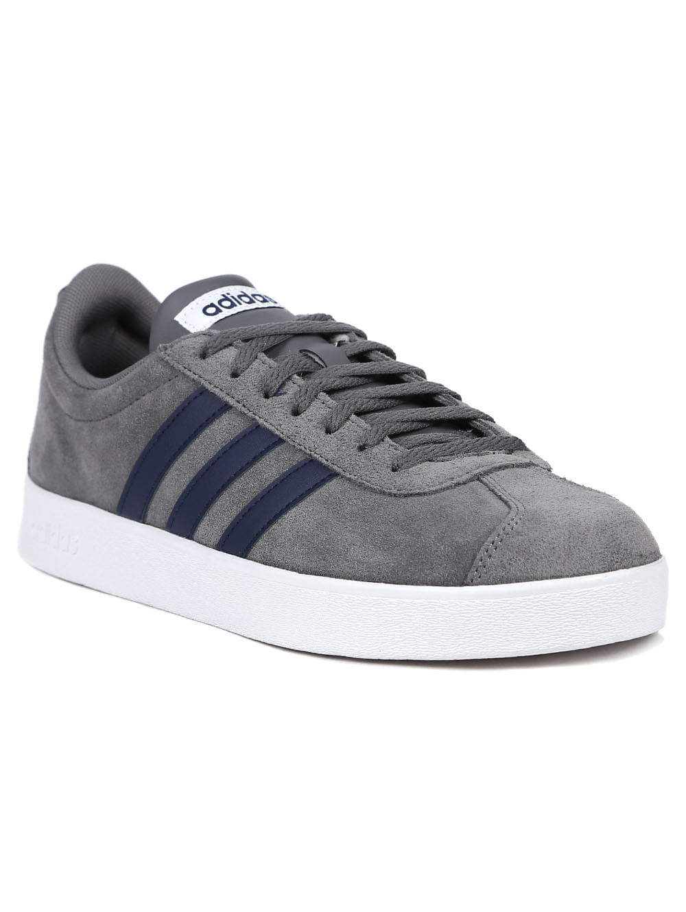 74d37dace Tênis Casual Masculino Adidas VL Court 2 Cinza - Lojas Pompeia
