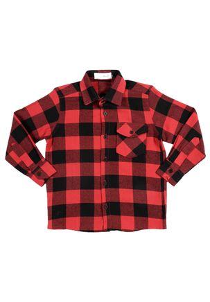 Camisa-Manga-Longa-Juvenil-Para-Menino---Vermelho-preto