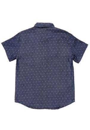 Camisa-Manga-Curta-Juvenil-Para-Menino---Azul