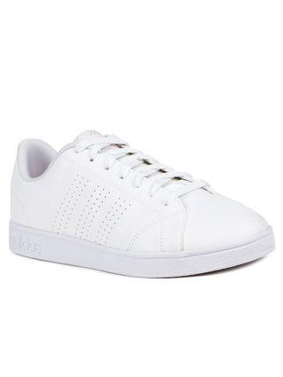 bd49e4b0ec Tênis Casual Feminino Adidas Advantage Clean Branco coral - Lojas Pompeia