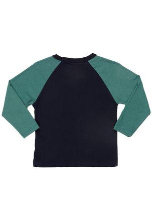 Camiseta-Manga-Longa-Infantil-Para-Menino---Azul-verde