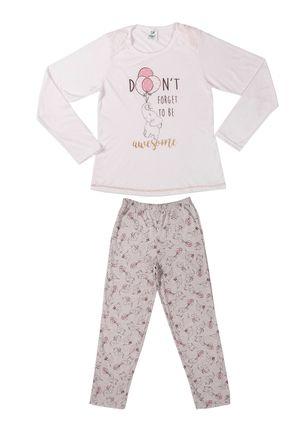 Pijama-Juvenil-Para-Menina---Off-White-cinza-6
