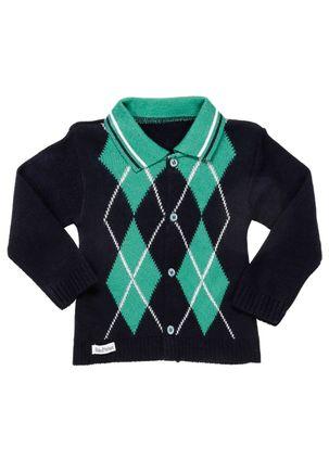 Casaco-Infantil-Para-Bebe-Menino---Azul-Marinho-verde-M