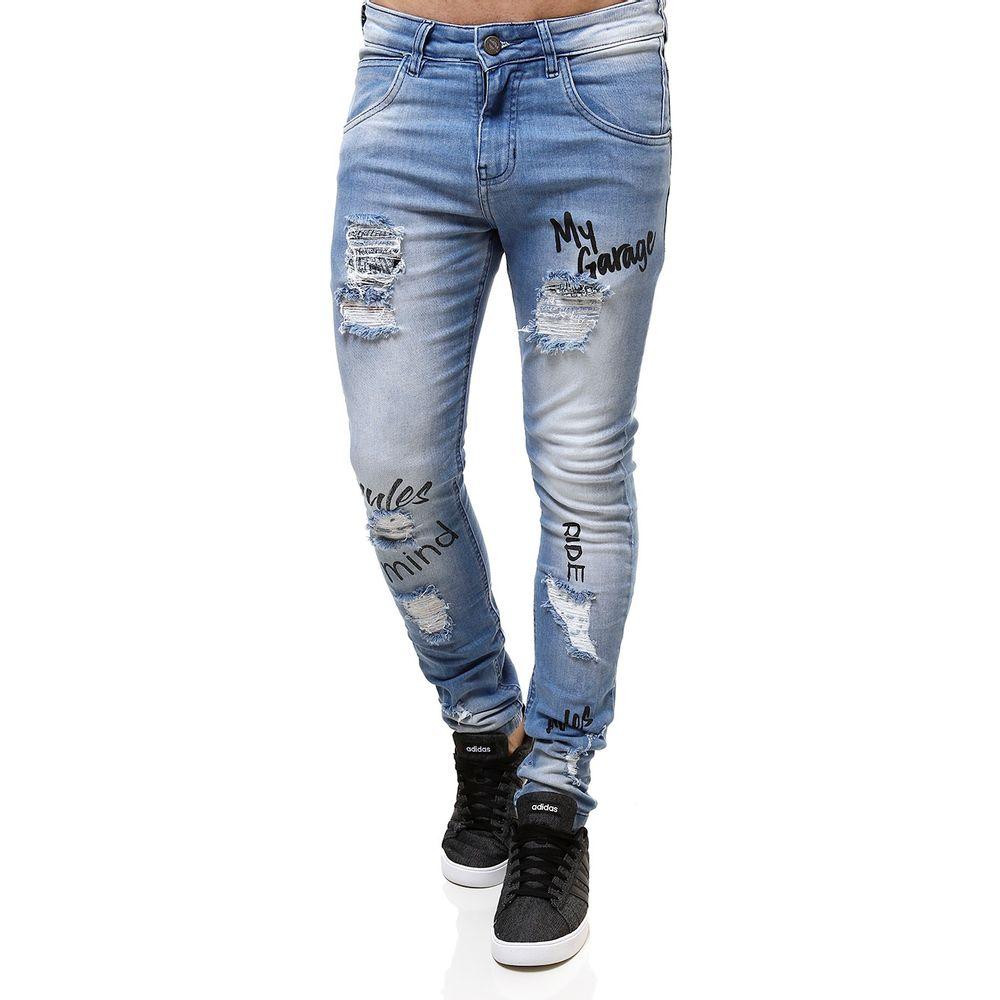 Calça Jeans Masculina Rock   Soda Azul - Lojas Pompeia 86ac7e23315ff