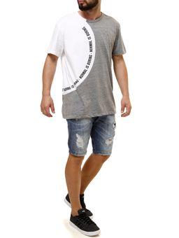 Camiseta-Manga-Curta-Masculina-Fido-Dido-Cinza-branco-P