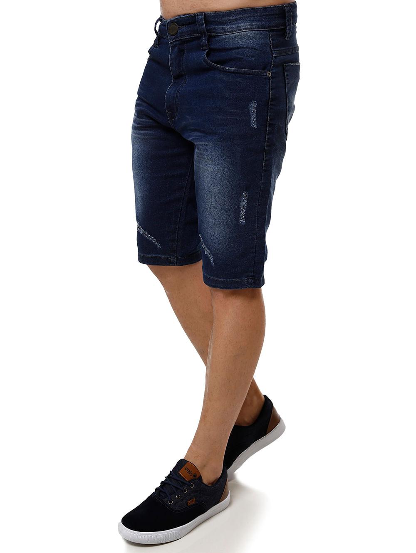 Jeans Masculina Bermuda Jeans Dixie Azul Bermuda If7yvY6bgm