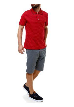 Polo-Manga-Curta-Masculina-Fido-Dido-Vermelho-P