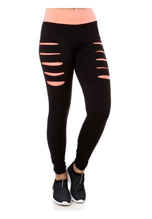 Calca-Legging-Feminina-Preto-laranja-P
