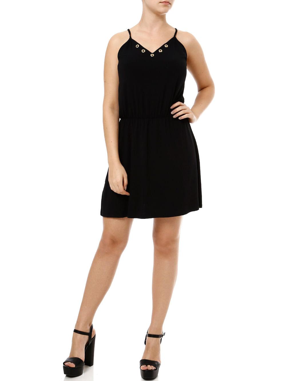 b720a6fc16 Vestido Curto Feminino Preto - Lojas Pompeia