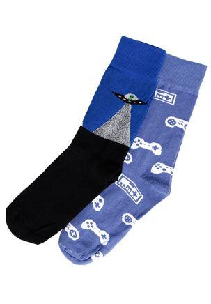 Kit-com-02-Meias-Masculinas-Vels-Preto-azul