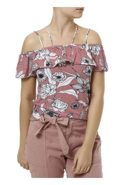 Blusa-Manga-Curta-Feminina-Ciganinha-Vermelho-P