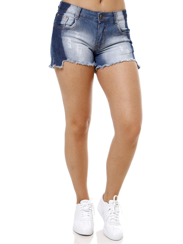 cc2e842c5 Short Jeans Feminino Azul - Lojas Pompeia