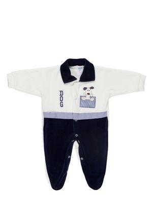 Macacao-Manga-Longa-Infantil-Para-Bebe-Menino---Azul-Marinho-off-White