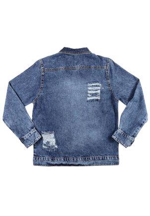 Jaqueta-Jeans-Infantil-Para-Menina---Azul