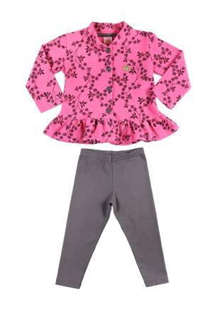 Conjunto-Infantil-para-Menina---Rosa-cinza