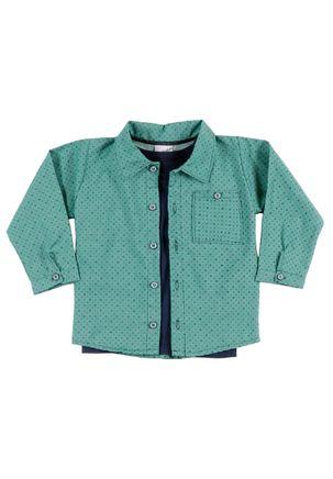 Camisa-Manga-Longa-Para-Menino---Verde-azul