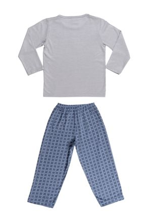 Pijama-Longo-Infantil-Para-Menino---Cinza-azul