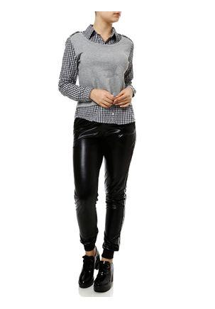 Camisa-Manga-Longa-Feminina-Cinza-preto-P