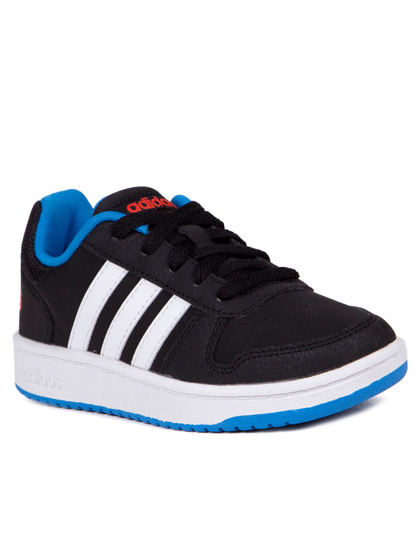 d6bfe521ba7 Tênis Casual Adidas VS Hoops 2 Infantil Para Menino - Preto branco azul