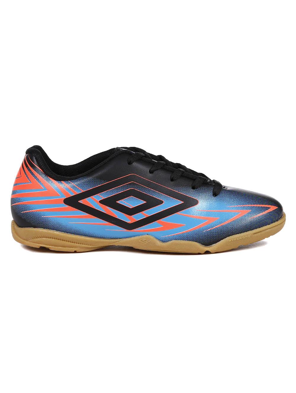 f0973bf5f20 Tênis Futsal Umbro Speed III Infantil para Menino - Preto azul ...