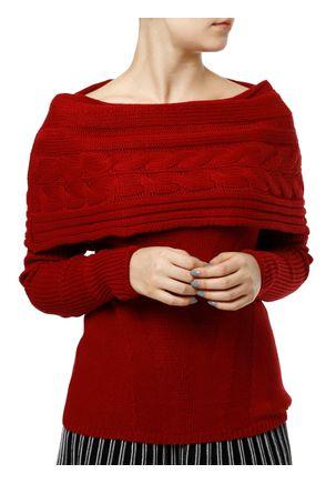 Blusa-de-Tricot-Feminina-Vermelho-P