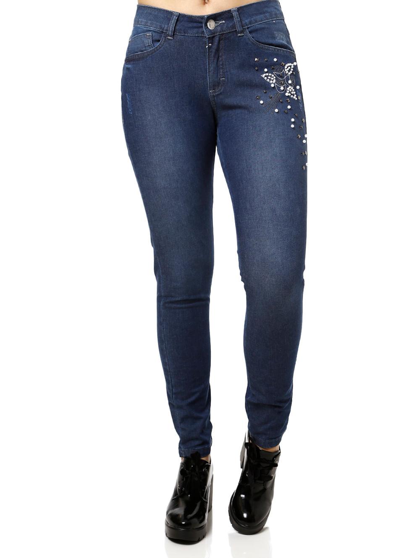c47cb23da Calça Jeans Feminina Uber Azul - Lojas Pompeia