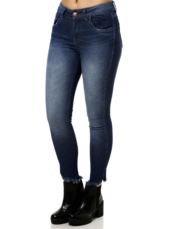 63e9c64c4 Calça Jeans Feminina Cigarrete Uber Azul - Lojas Pompeia