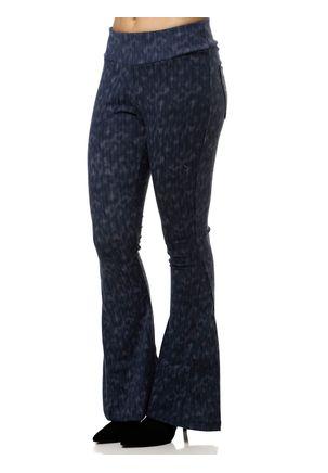 Calca-de-Tecido-Flare-Feminina-Azul