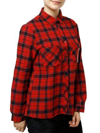 Camisa-Manga-Longa-Feminina-Vermelho
