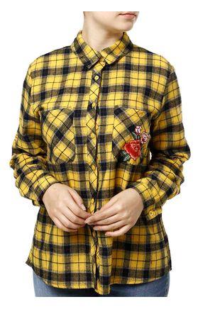 Camisa-Manga-Longa-Feminina-Amarelo