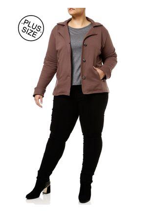Blazer-Plus-Size-Feminino-Marrom