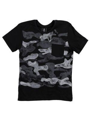 Camiseta-Manga-Curta-Juvenil-Para-Menino---Preto