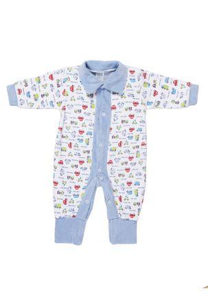 Macacao-Manga-Longa-Infantil-Para-Bebe-Menino---Azul-branco