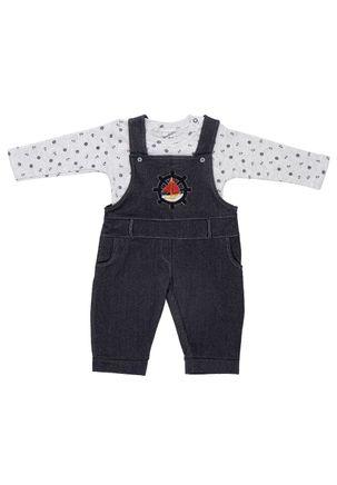 Macacao-Jardineira-Infantil-Para-Bebe-Menino---Azul-Marinho