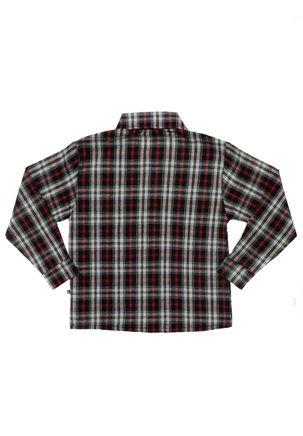 Camisa-Manga-Longa-Infantil-Para-Menino---Vermelho-preto