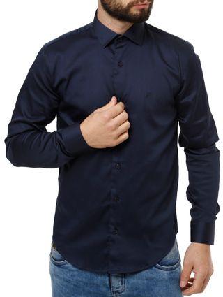 Camisa-Manga-Longa-Masculino-Eletron-Azul-Marinho